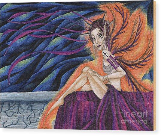 Gypsy Eyes Wood Print by Coriander  Shea