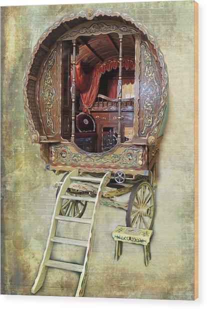 Gypsy Wagon Wood Print