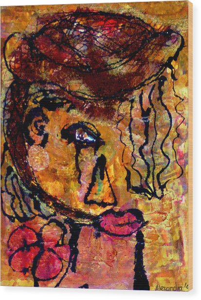Gypsy Woman Wood Print