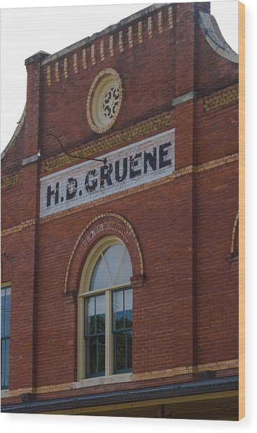 Wood Print featuring the photograph H D Gruene by Ed Gleichman