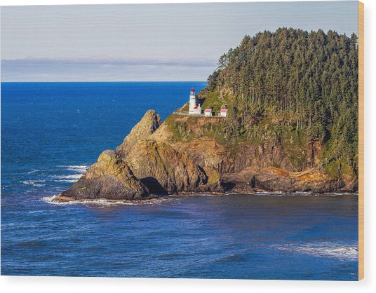 Haceta Head Lighthouse Wood Print