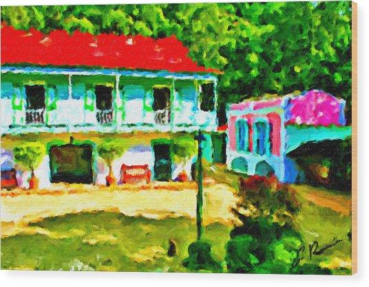 Hacienda Wood Print