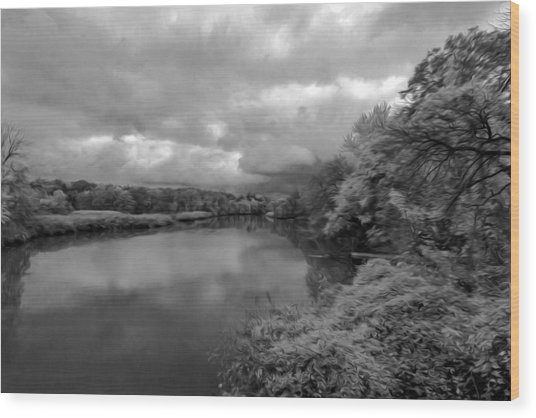 Hackensack River Wood Print