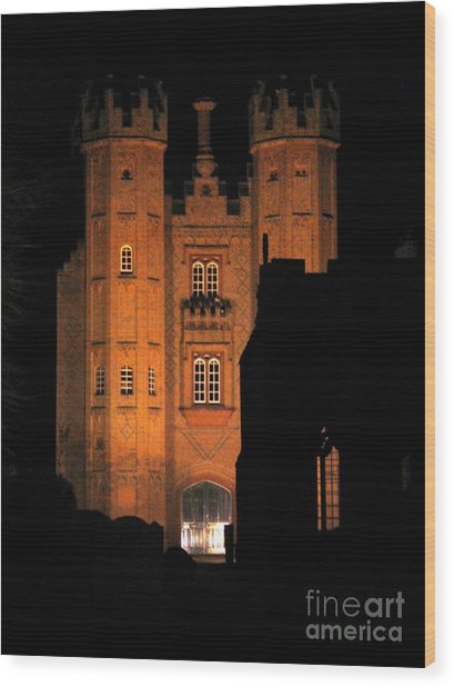 Hadleigh Deanery By Night Wood Print