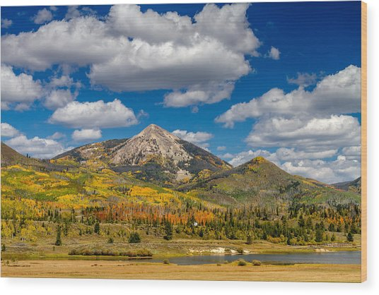 Hahn Peak And Steamboat Lake State Park Wood Print