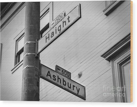 Haight And Ashbury Wood Print