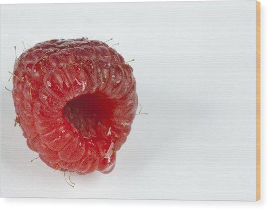 Hairy Raspberry Wood Print