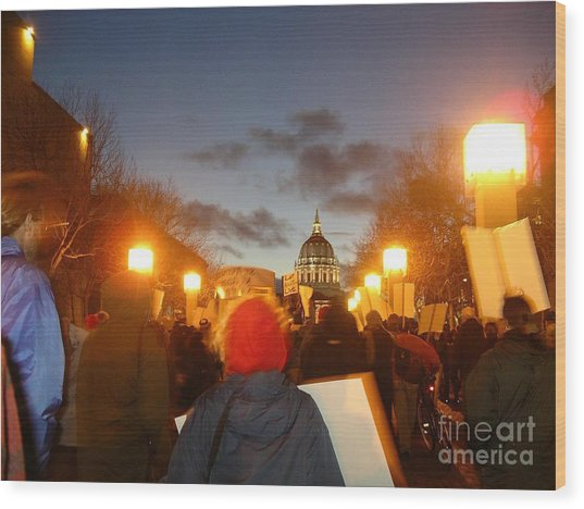 Haiti Protest Wood Print