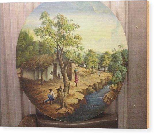 Haitian Landscape Wood Print