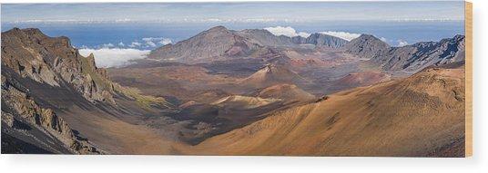 Haleakala Crater, Maui, Hawaii Wood Print