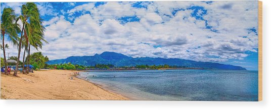 Haleiwa Beach Wood Print