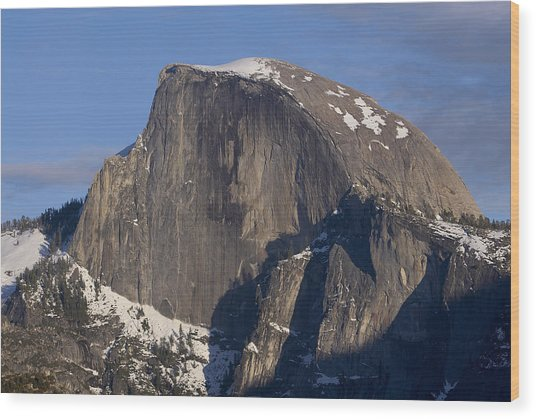 Half Dome Close Up In Winter Wood Print by Richard Berry