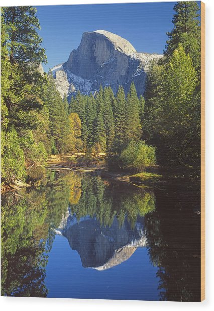 2m6709-half Dome Reflect - V Wood Print