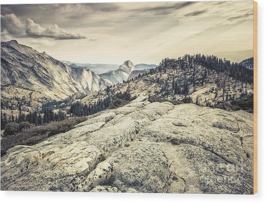 Half Dome View Wood Print