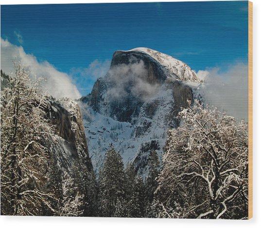 Half Dome Winter Wood Print