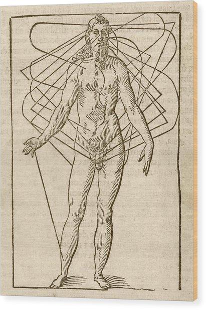 Half-man Half-woman Wood Print