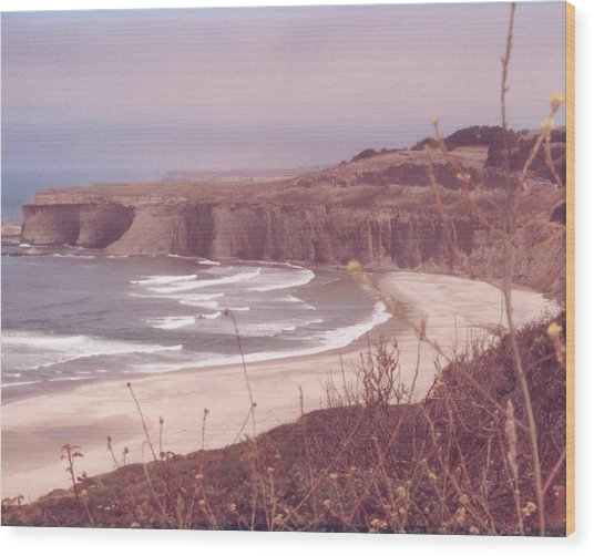 Half Moon Bay Wood Print