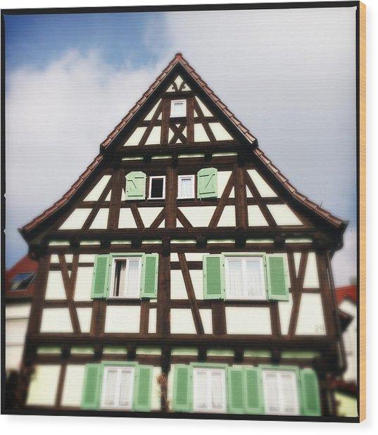 Half-timbered House 01 Wood Print