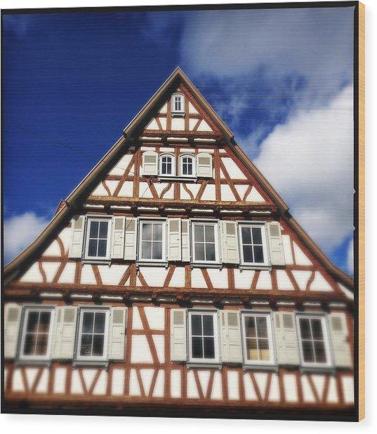 Half-timbered House 03 Wood Print