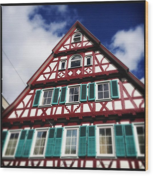 Half-timbered House 04 Wood Print