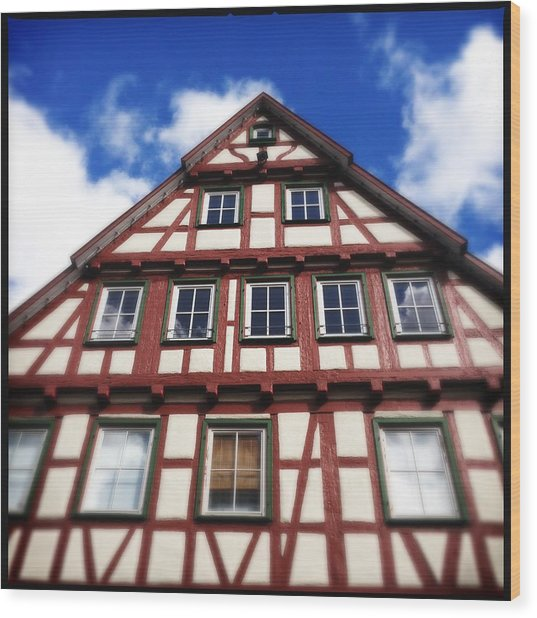 Half-timbered House 05 Wood Print