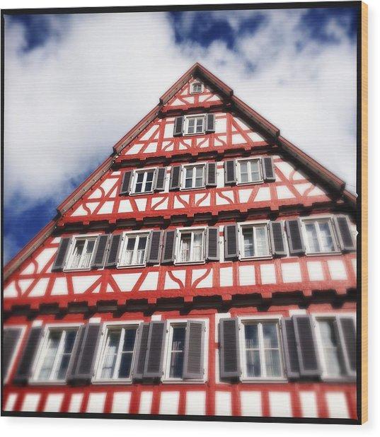 Half-timbered House 06 Wood Print