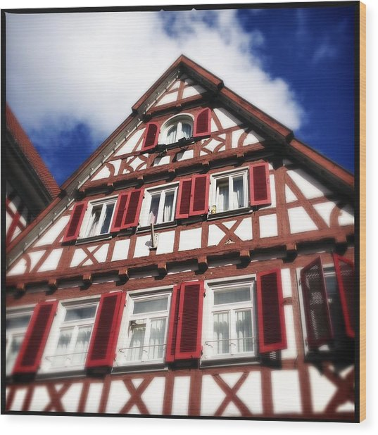 Half-timbered House 09 Wood Print by Matthias Hauser
