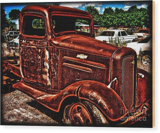 Half Ton Chevy - No.0243h Wood Print