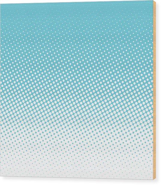 Halftone Background, Pop Art Design Wood Print by Bobnevv