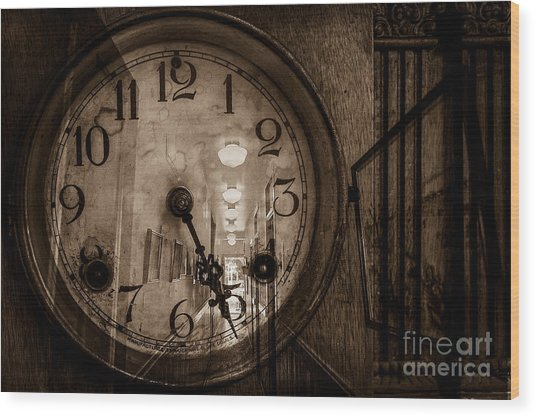 Hall Of Time Wood Print by Pam Vick