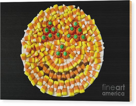 Halloween Candy Wood Print