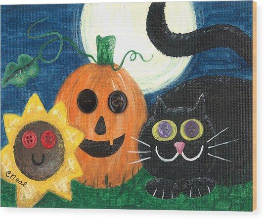 Halloween Fun Wood Print