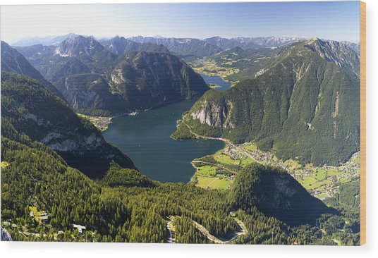 Hallstatt Lake Austria Wood Print
