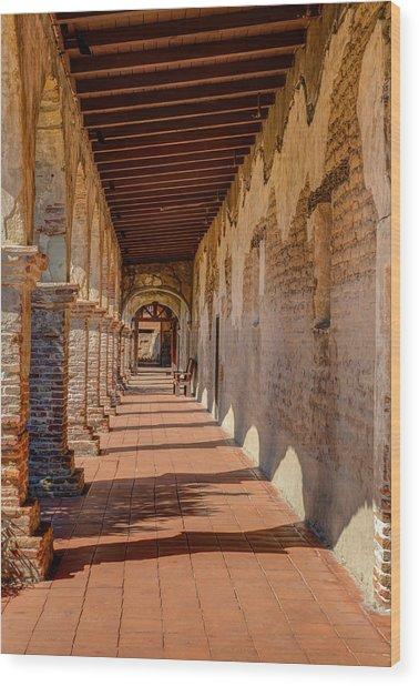 Hallway 1 At San Juan Capistrano Wood Print