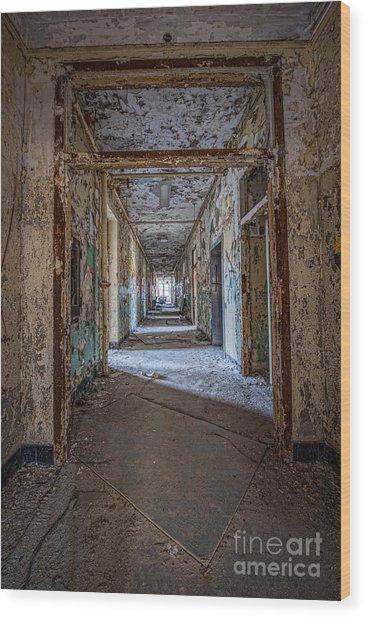 Hallway Grunge Wood Print