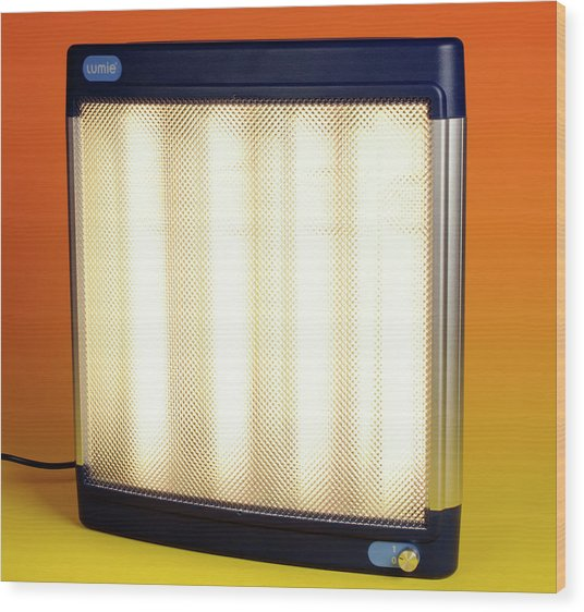 Halogen Heater Wood Print by Public Health England
