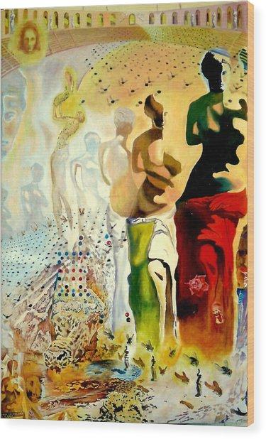 Halucinogenic Toreador By Salvador Dali Wood Print