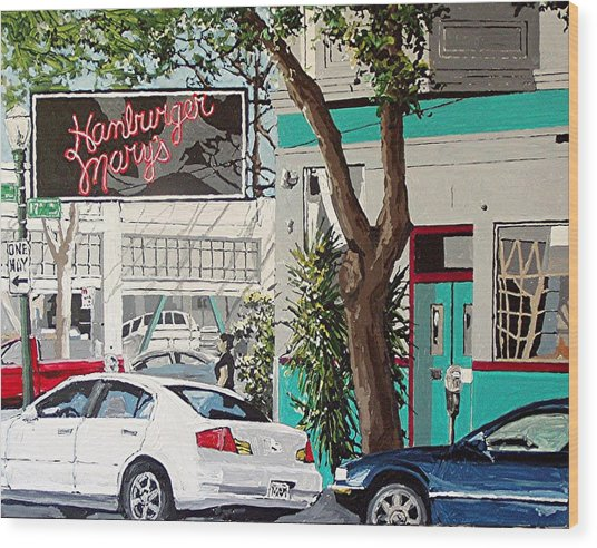 Hamburger Mary's Wood Print by Paul Guyer