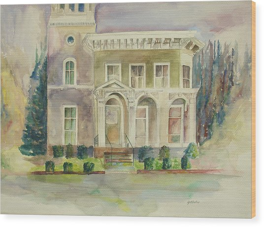 Hamden House Wood Print