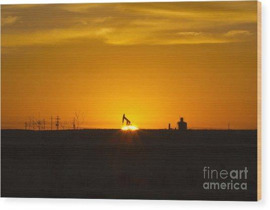 Hammering The Sun Wood Print