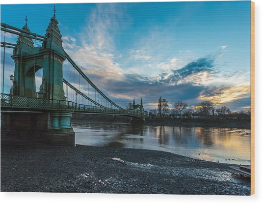 Hammersmith Bridge Wood Print
