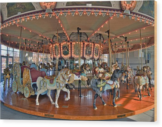 Hampton Carousel 2 Wood Print