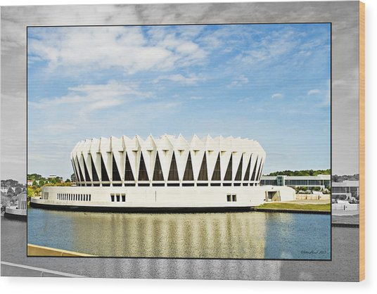 Hampton Coliseum Wood Print