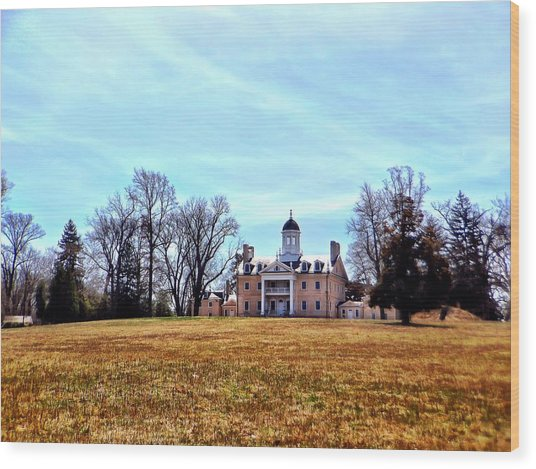 Hampton Mansion Wood Print