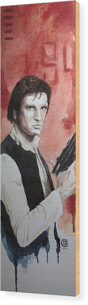 Han Solo Wood Print by David Kraig