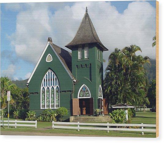 Hanalei Church Wood Print