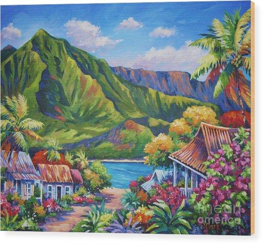 Hanalei In Bloom Wood Print