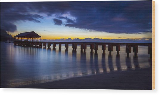 Hanalei Twilight Wood Print