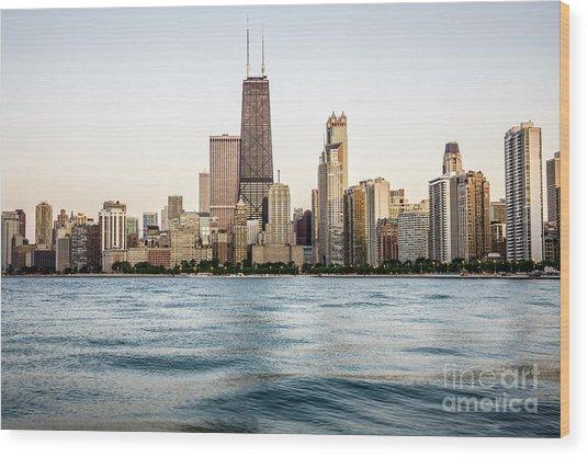 Hancock Building And Chicago Skyline Wood Print