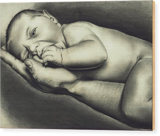 Hand Of Comfort Wood Print by Atinderpal Singh